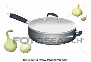 Drawings of Cooking Pan k22460704 - Search Clip Art ...