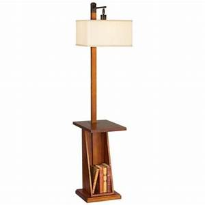 Astor place walnut tray and shelf floor lamp p9449 for Contemporary floor lamps gold coast