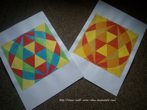 Abstract Drawing Using Shapes by Abstract Geometric Shapes By Draw With Mira Chan On