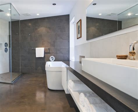 17+ Concrete Bathroom Floor Designs, Ideas  Design Trends