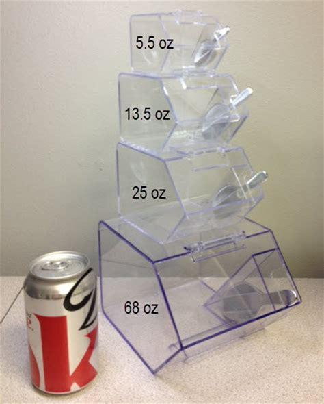 4 oz jars bulk jumbo mini bins plastic container clear scoop bins
