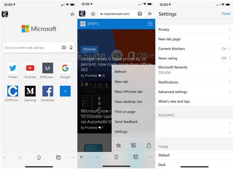 microsoft edge for ios preview updated with new improvements mspoweruser