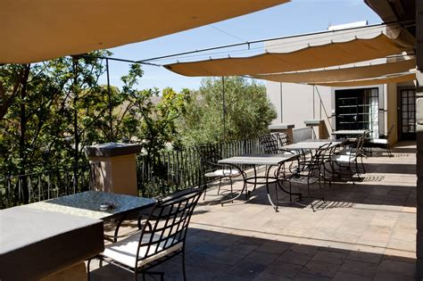 Home Terrace : Upstairs Terrace-olive Grove Guesthouse