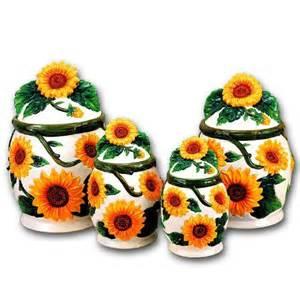 sunflower canisters for kitchen sunflower ceramic dinnerware set sunflower 3d canisters set of 4 sunflowers new sunflower