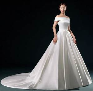 elegant white satin wedding dress 2016 long vestidos de With white silk wedding dress