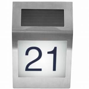 Hausnummer Beleuchtet Led : solar hausnummer mit led beleuchtung ~ Frokenaadalensverden.com Haus und Dekorationen