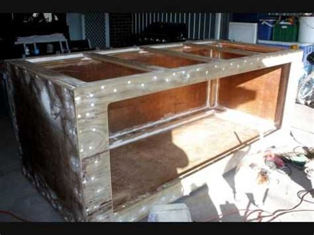 gallon plywood  fiberglass aquarium build