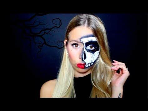 make up skelett diy half skull make up 3 arten skelett make up tutorial
