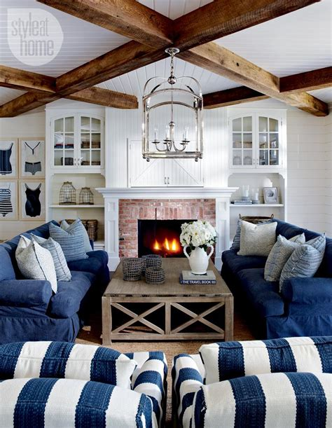 nautical living room furniture house tour coastal style cottage style at home