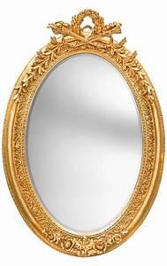 Miroir Style Baroque : tr s grand miroir baroque ovale dor vertical ~ Teatrodelosmanantiales.com Idées de Décoration