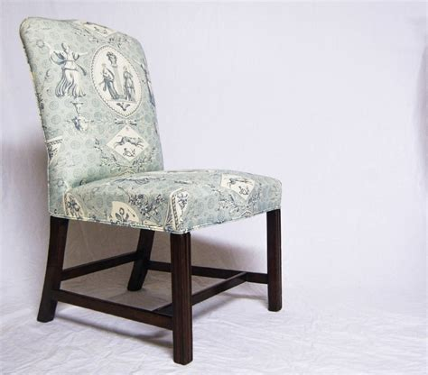 georgian camel back chair with toile de jouy upholstery