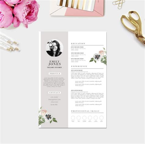 Creative Resume Fonts by Creative Resume Photo Custom Cv Template Custom Cover Letter Template Word Psd Fonts