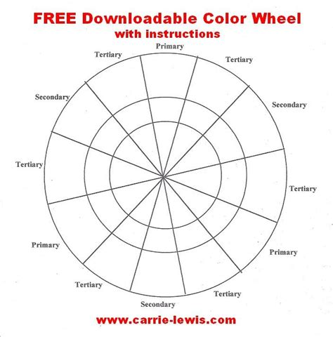 Color Wheel Template 16 Best Color Wheels Images On A Color