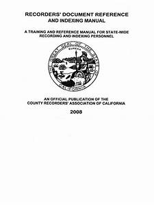 California Recorder U0026 39 S Manual And Reference Guide