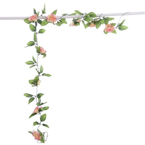 diy artificial rose garland flower vine  home wedding