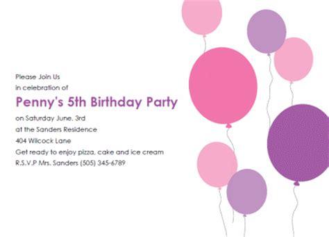 printable kids birthday party invitations templates