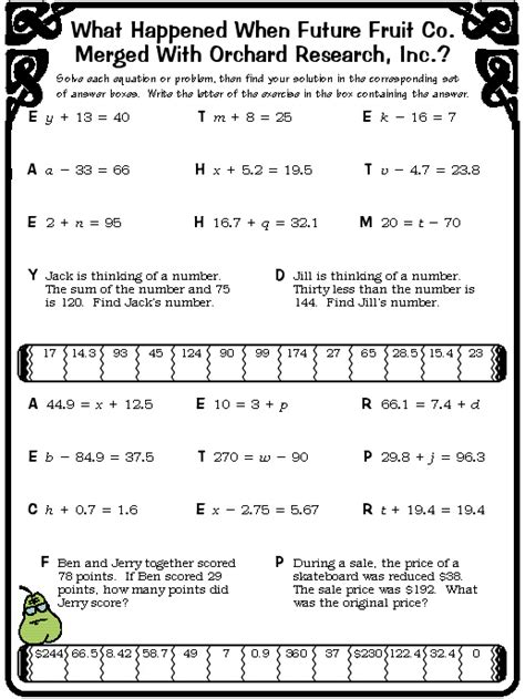 8 best images of pizzazz worksheet answer key