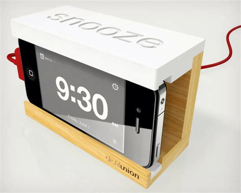 how is snooze on iphone snooze iphone alarm dock cool material