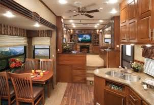 RV Fifth Wheel Front Living Room