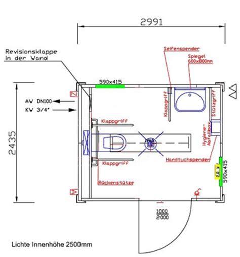 behinderten wc planung barrierefreier wc container behindertengerechter wc container 10 objekt nr 179019