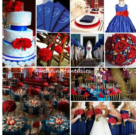 royal blue and red wedding but i want a more teal color