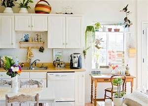Small kitchen design for Kitchen colors with white cabinets with green plant wall art