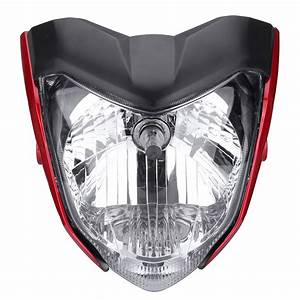 Motorcycle Headlight Assembly Headlamp Light House Red For
