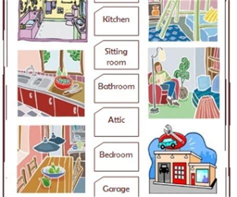 parts   house elementary worksheet