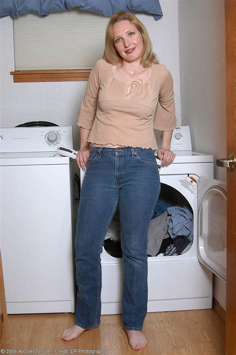All Over Presents Sexy Housewife Carrie Does The Laundry