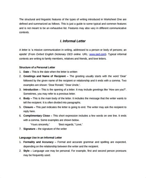 sample letter format  documents   word