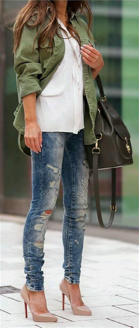 Outfits en tono verde militar (16)   Beauty and fashion ideas Fashion Trends Latest Fashion ...