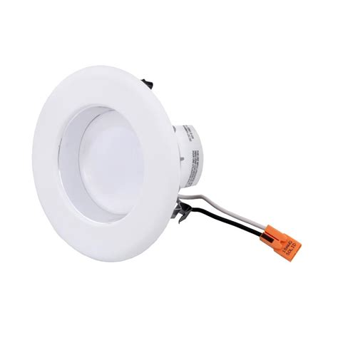 integrated led lights envirolite 4 in white integrated led recessed ceiling