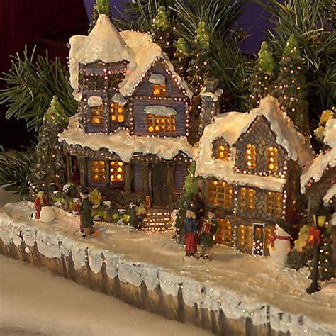 christmas village scenes housesbuildings christmas