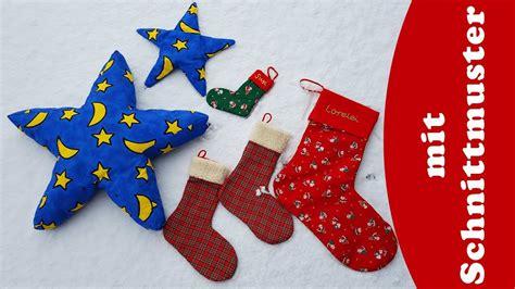 stern und stiefel naehen fuer weihnachten diy mit schnittmuster youtube