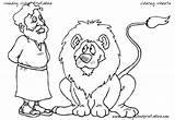 Den Daniel Coloring Lions Lion Getdrawings sketch template