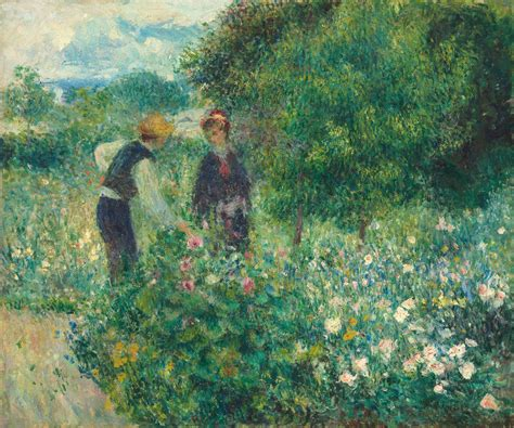 Pierre Auguste Renoir Picking Flowers 1875 Artsy