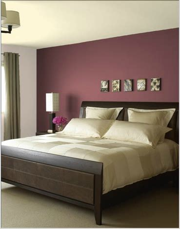 love  burgundy feature wall colour  bed