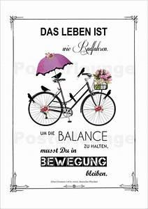 Das Leben Ist Wie Ein Fahrrad : abouki art factory leben ist wie radfahren poster online bestellen posterlounge ~ Orissabook.com Haus und Dekorationen