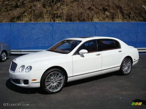 white bentley flying spur 2009 glacier white bentley continental flying spur speed
