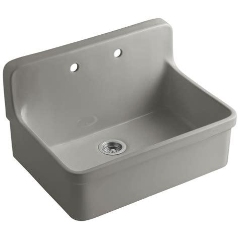 Drop In Porcelain Kitchen Sink by Shop Kohler Gilford Single Basin Drop In Porcelain Kitchen