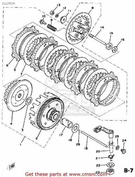 yamaha dt  usa clutch schematic partsfiche