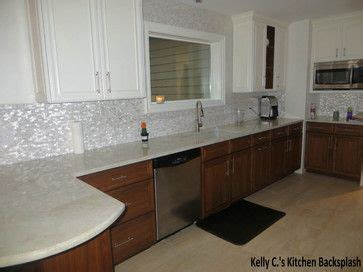 white kitchen white backsplash white brick groutless pearl shell tile tile design