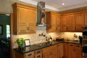 honey oak cabinets what color granite granite with oak what color light or dark