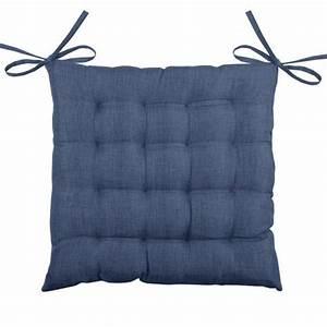 Coussin Bleu Marine : coussin de chaise b a 16 points bleu marine d co textile eminza ~ Teatrodelosmanantiales.com Idées de Décoration