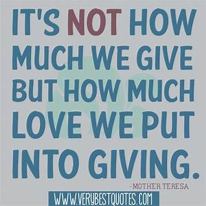 Inspirational Quotes About Giving. QuotesGram