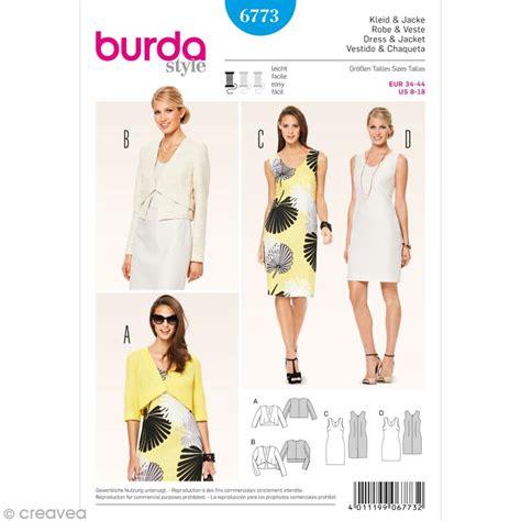 acheter bureau patron burda femme robe et veste courte 6773