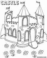 Castle Coloring Pages Colorings Print Castle6 sketch template