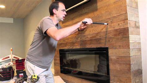 installing  wood fireplace mantel youtube