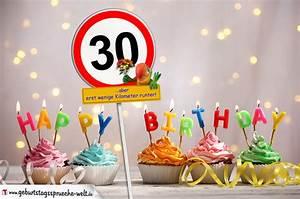 30 Dinge Zum 30 Geburtstag : 30 geburtstag geburtstagsw nsche mit schild und alter auf karte geburtstagsspr che welt ~ Bigdaddyawards.com Haus und Dekorationen