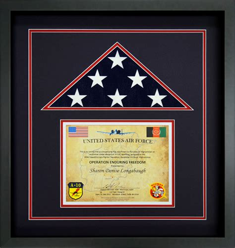 Afghanistan's new flag was first flown on february 5, 2002, in a ceremony led by interim afghan leader hamid karzai. Flag Display Case Example - Flag Flown On A combat Sortie ...